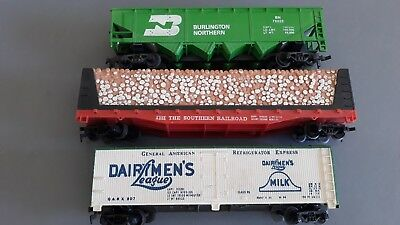 Model Power Tyco Us Freight Cars X 3 Good Condition Unboxed Ho Gauge(Gs)