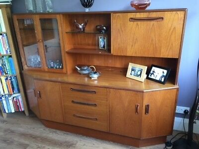 G Plan Mid Century Display Cabinet / Sideboard