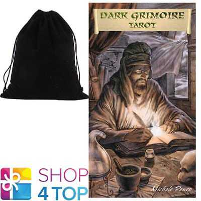 Dark Grimoire Tarot Deck Cards Esoteric Telling Lo Scarabeo With Velvet Bag New