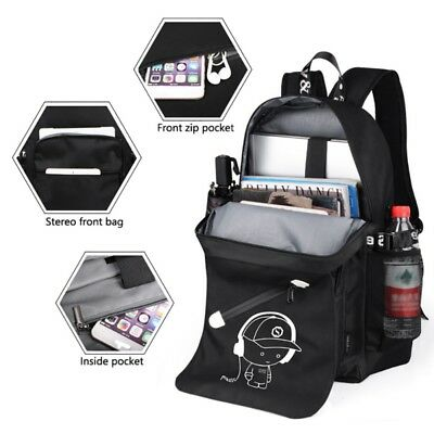 US Anti-theft Laptop Notebook Backpack Outdoor Travel Bag with USB Charging  Port 3f9603f785