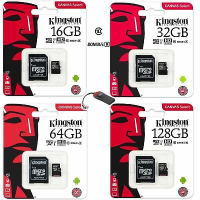 Tarjeta Memoria Kingston Microsd Micro Sd 4 8 16 32 4Gb 8Gb 16Gb 32Gb