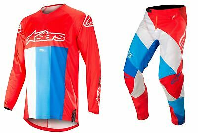 Alpinestars Techstar Kit Org//Blu//Wht MX Motocross Quad off road Gear Adults