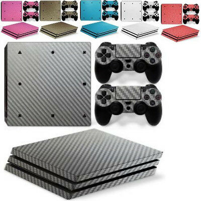 PS4 Controller Carbon Fiber Skin Protector Sticker Make Up Console For Sony
