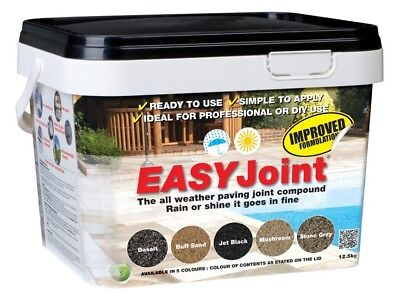 Easy Joint PAVING GROUT - JET BLACK -  Jointing compound 12.5kg EASY Joint