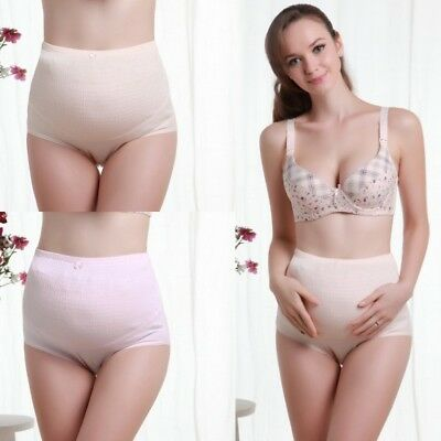 Pregnant Women Maternity Belly Support High Rise Underwear Panties Briefs cotton