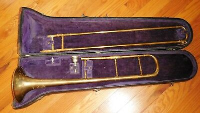 Vintage Trombone COUESNON Paris AMERICAN PERFECTION w/Case & Reids Mouthpiece