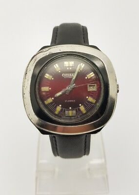 VINTAGE CITIZEN Automatic Day/Date WATCH, Japan made, used, rare . (w-181)