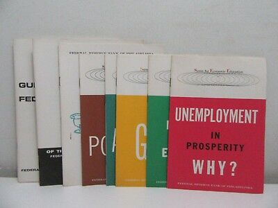 "8 Pamphlets ""Federal Reserve Bank of Philadelphia"" 1960's"