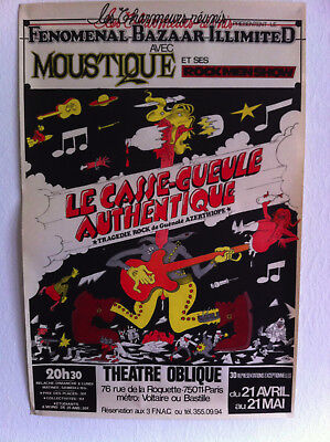 Affiche Willem Le Casse Gueule Authentique Tragédie Rock 1977