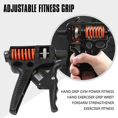 3X(25-50Kg Adjustable Hand Grip Gym Power Fitness Hand Exerciser Grip Wris T5P2)