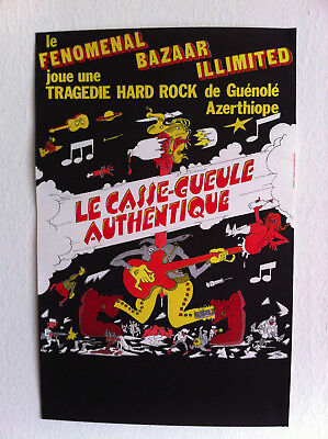Affiche Willem Le Casse Gueule Authentique Tragédie Hard Rock 1977