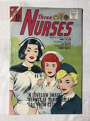 Vintage Rare Three Nurses Comic Book # 23 March 1 1964 Fine/VF Cond.