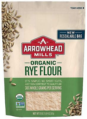 Arrowhead Mills Organic Rye Flour, 20 oz. Bag Pack of 6