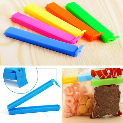 5pcs Househould Food Fresh-Keeping Snack Sealer Clamp Storage Sealing Bag Clips
