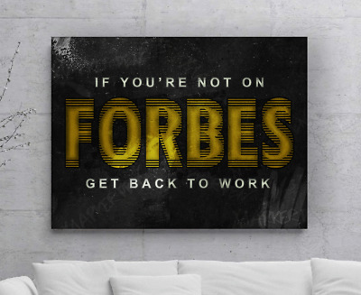 Forbes Entrepreneur Quotes Canvas Print Office Decor Art Hard Work Quote Hustle