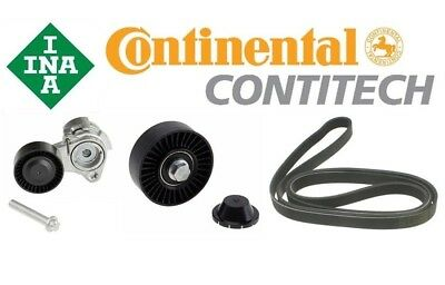ContiTech Drive Belt / INA Pulley + Tensioner Kit BMW 2006-2013 6 Cyl Engines