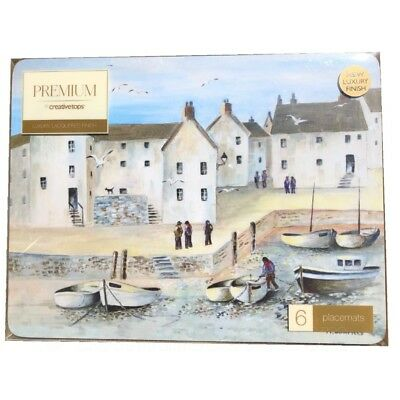 Cornish Harbour Luxury Quality 6 Placemat Set by Creative Tops FAST TRACKED POST