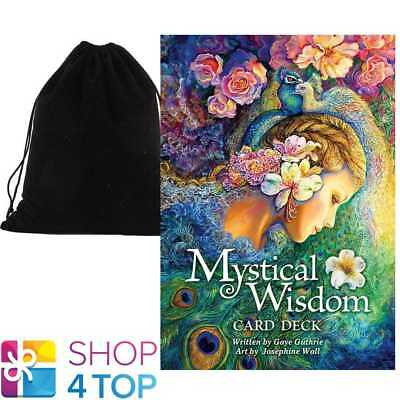 Mystical Wisdom Cards Deck Gaye Guthrie Esoteric Us Games Systems Velvet Bag New