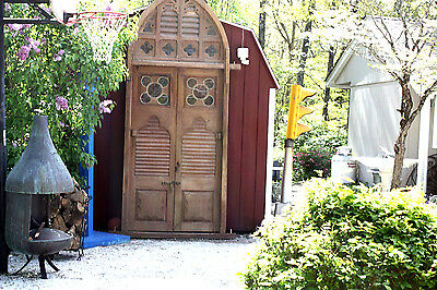 Massive Arch  Antique  Gothic, Misson Church Door, Garden Door, Antique entry