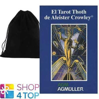 Spanish Crowley Thoth Tarot Deck Cards Esoteric Us Games Systems With Velvet Bag