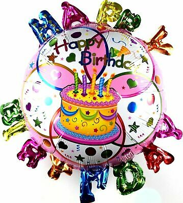 R22F16 Folienballon Geburtstag Kuchen Helium Torte Happy Birthday Cake balloon