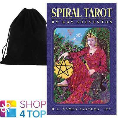 Spiral Tarot Premier Edition Deck Esoteric Us Games Systems With Velvet Bag New