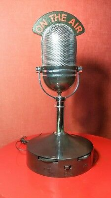 """VINTAGE RADIO MICROPHONE  """"ON THE AIR"""", funzionante AM/FM - OLD STYLE"""