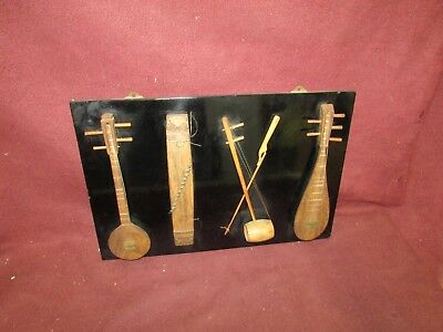 Group Old or Antique Japanese or Korean Musical Instruments Miniature