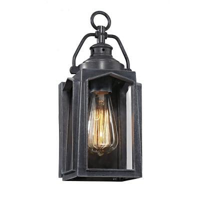 Home Decorators Collection 1-Light Charred Iron Small Outdoor Wall Mount Lantern
