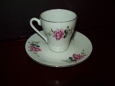 2 Miniature Porcelain Tea Cups and Saucers  China/Japan