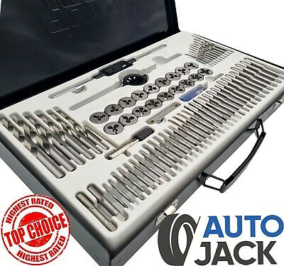 Quality 76 Piece Metric Tap and Die Set Kit with Split Dies Wrench & Steel Case