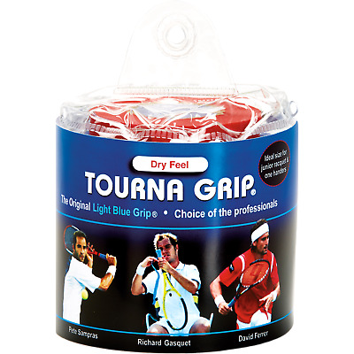 Tourna Grip Original 30 Pack Tennis Badminton Overgrip - Blue - Dry Feel