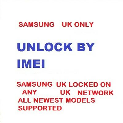 Samsung Galaxy S8+ S8 S7 Edge S7 Plus Unlock Code ee O2 Vodafone 3 UK PIN & PUK