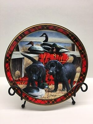 Franklin Mint Can We Keep It Black Puppy Dogs Labs Royal Doulton Collector Plate