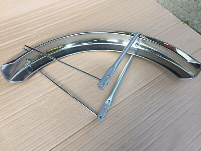 Used Motobecane Mobylette Front Aluminum Fender and Brackets 40t
