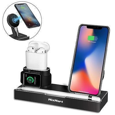 iPhone X Wireless Charger Stand, 6 in 1 Aluminum iPhone 8/8 Plus Charging Dock