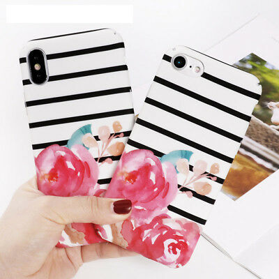 Luxury Floral Flower Print Hard PC Phone Case Cover For Apple iPhone 6 6s 7 Plus
