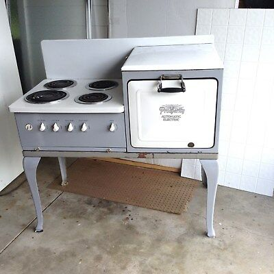 VintageElectric Range 1920's Prosperity White and Gray Local pick-up only.