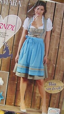SALE NEW Exclusive German Austrian 3pc. Dirndl Dress Blouse Apron 10