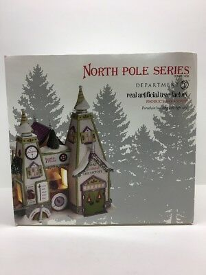 "Dept 56 North Pole Village ""Real Artificial Tree Factory"" 4020205 RETIRED NIB"