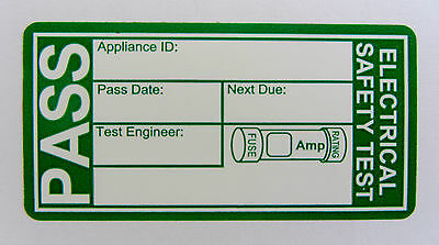 200 Pat Testing Labels, See listing to link to other labels.
