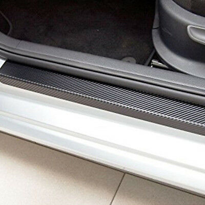 Car Door Sill Scuff Welcome Pedal Protect Carbon Fiber Sticker Strip Accessories