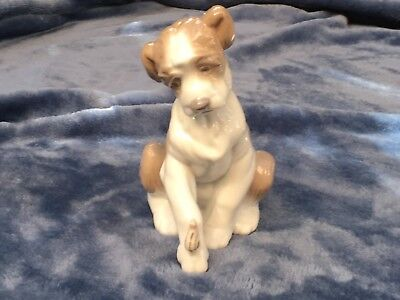 Lladro puppy dog with snail 6211