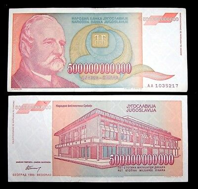 1 x Yugoslavia 500 Billion Dinara banknote /1993/P-137 / circulated currency