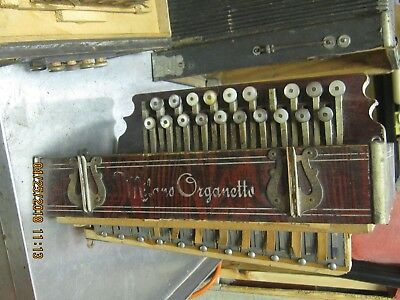 French antique Milano Organette Accordian
