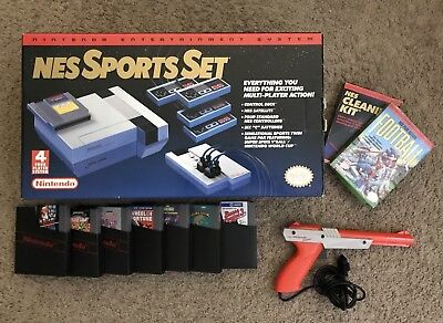Nes Sports Set Complete With Extra Games And Cleaning Kit