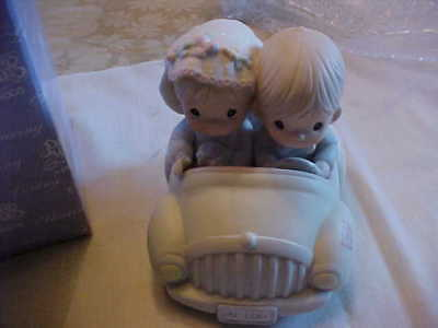 """Precious Moments 1988 Figurine Called """"wishing You Roads Of Happiness"""" Original"""