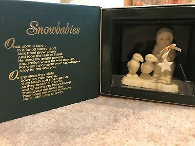 Snowbabies Dept 56 Figure: Fishing for Dreams-Brand New