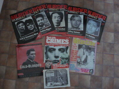 Job Lot Of Crime Magazines Murder In Mind Etc Cold Blooded By John Gilmore Book