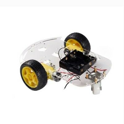 2WD Motor Smart Robot Car Chassis Kit Speed Encoder Battery Box for Arduino E5L1